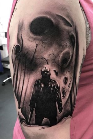 Jason voorhees friday 13th horror piece #brighton #tattooshop #uktattoo #uktta #tattoo #tattoostudio #tattooartist #blackandgreytattoo #blackandgrey #bng #ink #bngink #bnginksociety #realism #elitecartridges #realismtattoo #realistic #realisticink #fkirons #kurosumi #worthing #lancing #kurosumiink #ezcartridgeuk #kwadron #kwadronproton