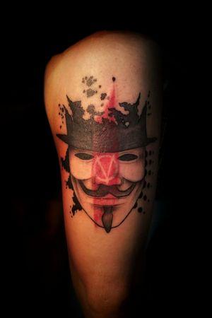 V for Vendetta #tattoo #trashpolkatattoo #trashpolka #VforVandetta