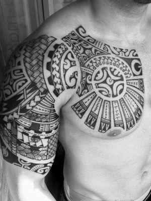 Maori designer tattoos Right shoulder