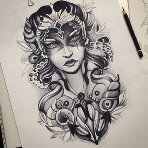 Siren #tattoodesign #tattooartist #flashart  #btattooing #blackart #blxckink #art #ink #inked #girlytattoo #girls #chrysanthemum #cattattoo #lineart #blackworktattoo #polandtattoos #blackworkerssubmission #polandink #gdansk #gdynia #sopot #3city #l4l #artofinstagram #xystudio #instacat