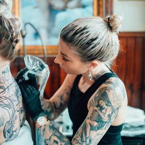 Teneile Napoli tattooing #TeneileNapoli #GarageInkManor #Australia