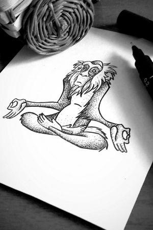 Rafiki - O Rei Leão ***DISPONÍVEL*** #rafiki  #disneytattoo #disney #tattooart #tattooartist #draw #drawing #sketchtattoo #sketch #dotworktattoo #dotwork #TheLionKing #lionkingtattoo #lionking #lionkinghakunamatata #hakunamatatatattoo #hakunamatata #monkeytattoo #monkey