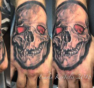 #skulltattoo #skullhandtattoo #chriskerbelistattoo #xdreamkaiserslautern # xdream4you #xdreamtattoo #x244 #southcentraltattoo #bishopmagi #silverblackink #nofilter