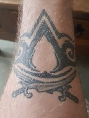 My tribal assassin's creed with a hint of black flag ... still wondering if I should had the eye of ra in the middle...