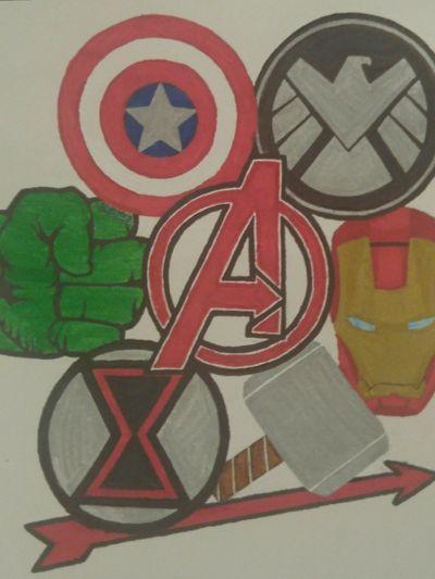 The Avengers team #MarvelTattoo #AvengersTattoo #Hulk #Ironman #CaptainAmerica #Thor #BlackWidow #Hawkeye #Falcon