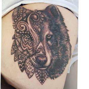 #coveruptattoo #mentalMonkeyTattoo #papamoa #newzealand #lonewolf