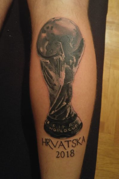 World Cup Trophy #soccertattoo #soccer #worldcup