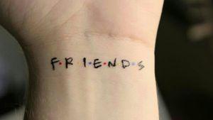#smalltattoo #friends #serie #tv #fineline