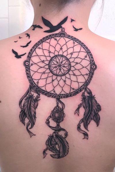 #DreamCatcher #DreamCatcherTattoo #TattooedGirls