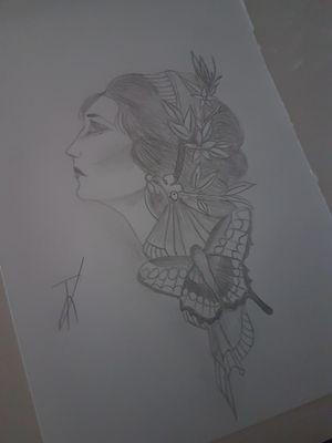La dame au papillon.