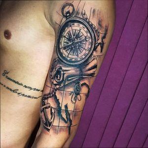 #tattoo #art #realism #blackandgrey #electricink #brasil #follow #worldfamous #like #inked #bussola #bussolatattoo  #maptattoo #windrose