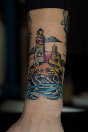 #lighthouse #oldschool #tattooart #artist #art #tattooartistmagazine #tattooartist #TraditionalArtist #tattoosociety #tattoostyle
