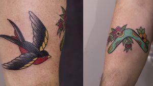 #swallowtattoo #swallow #boomerang #tattoo #tattooart #tattooartist #oldschool #traditional #traditionaltattoos #tattooartistmagazine #ink #inked