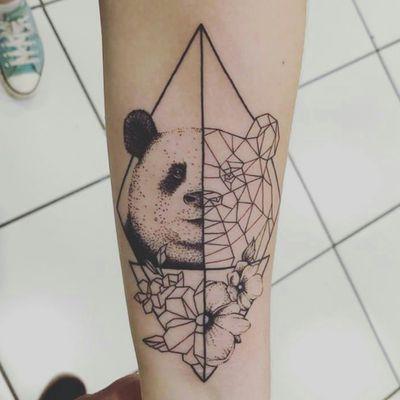 Panda tattoo #panda #pandatattoo #firsttattoo