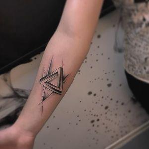 #geometrictattoo #geometric #triangletattoo