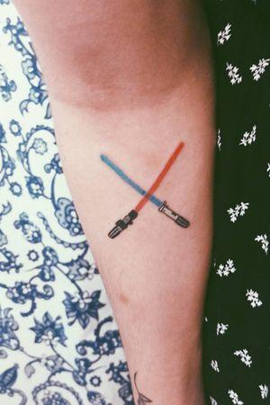 Darth Vader and Anakin's lightsabers. Star wars.