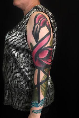 Flamingo sleeve