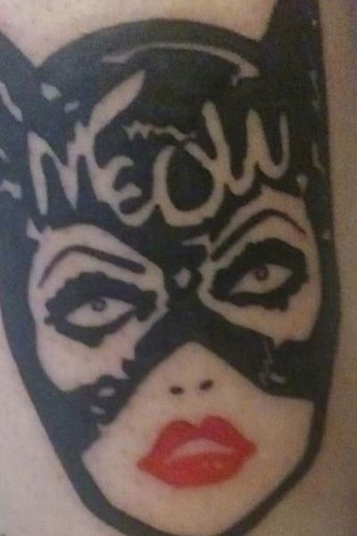 """""""I don't know about you Miss Kitty but I feel so much...yummier"""" #MichellePfieffer #catwomantattoo #catwoman #meow"""