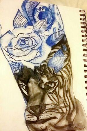 #drawing. #sleevetattoo #love #practicemakesperfect