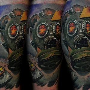 #scary #gasmask #atomicmushroom #colortattoo