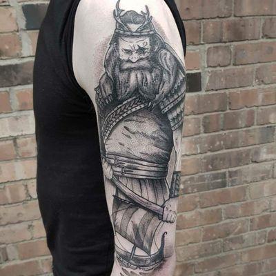 Odin #odin #norsemythology #norse #viking #vikings #blackandgrey #blackwork #dotwork