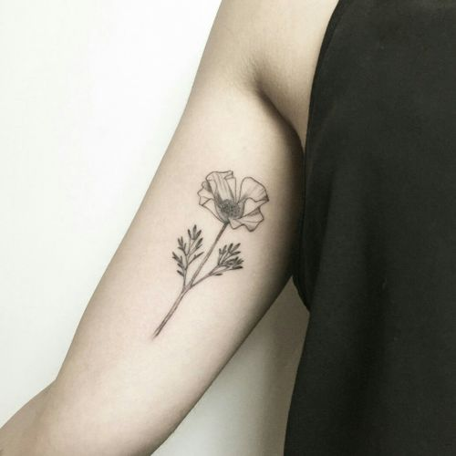 #floraltattoo - #innerarmtattoo