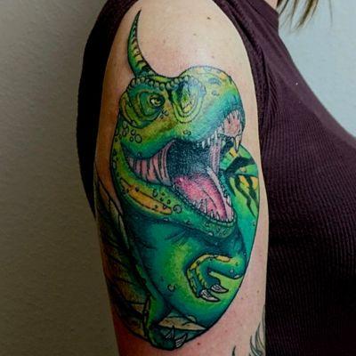 #trex #newtraditional #newschooltattoo #dinosaur #dino #munich #fineart #art #tattooart