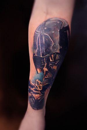 #starwarstattoo #lotrtattoo #workinprogress #darthvadertattoo #tattooartists #colourtattoos #tattoo #tattoos #ink #tatts #inked #tattooart #travel #blackngraytattoo #tattooist ##blackworkers #art #realistictattoo #worldwide #kwadron #dark