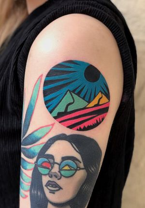 circle shaped psychedelic landscape by @dusty_past #dustypast
