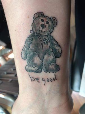 """4 leaf clover Beanie baby bear & """"Be good"""""""
