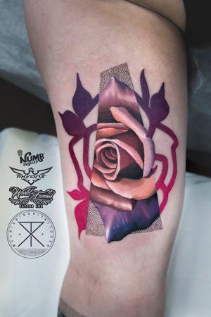 Inner arm rose for Mary today. Thank you! - @tattoodo Ambassador #tattoodo Tattooed using #worldfamousink @worldfamousink @_numb_skulled #_numb_skulled @fkirons Xion #fkirons #fkironsxion @bloodlinesinknorthperth #bloodlinesinknorthperth #dermalizeproofficial #stencilanchored #sabertattooequipment #chrisrigonitattooer #chrisrigoni #tattoo
