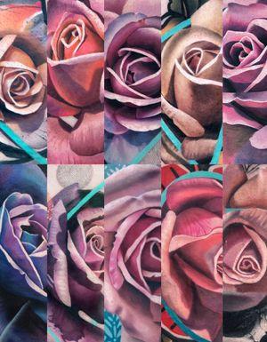 Roses for days. @tattoodo Ambassador #tattoodo Tattooed using #worldfamousink @worldfamousink @_numb_skulled #_numb_skulled @fkirons Xion #fkirons #fkironsxion @bloodlinesinknorthperth #bloodlinesinknorthperth #dermalizeproofficial #stencilanchored #sabertattooequipment #chrisrigonitattooer #chrisrigoni #tattoo