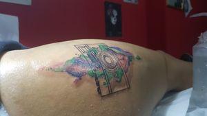 Watercolor Polaroid! #tattoo#tattoosession#tattoos#tattooed#love#lovetattoo#ink#loveink#art#watercolor#polaroid#color#instangood#instantattoo#amezing#amezingtattoo#great#picoftheday#tattoooftheday#follo#support#stigmarotary