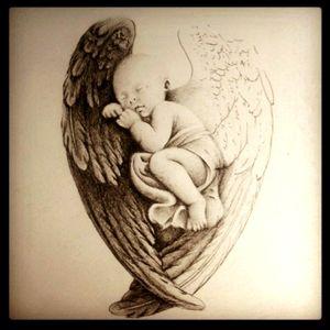 Angel - baby - wings