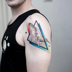 Humpback whale for Adam. #humpbackwhale #whale #tattoo