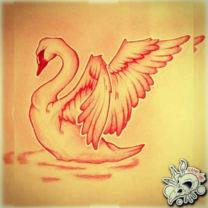 #follow New Sketch Not Available! #draw #drawing #tattoo #tattoos #ink #sketch #sketchbook #logo #picoftheday #swan #wing #water #animal #neotraditional #neotrad #red #white