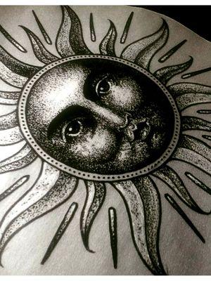 Sun - puntillismo - dotwork - Sol