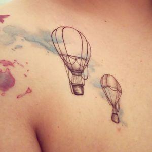 #details #airballoon #watercolortattoo