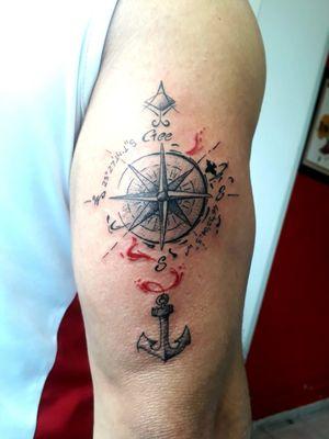 #kiatattoo #tattoo #tatuagem #tatuaje #sketch #desenho #dibujo #drawing #sketchwork #sketchtattoo #rosadosventos #tatuagemrosadosventos #travel #traveltattoo #tatuagemviagem #tatuagemsp #tatuagemguarulhos #artfusion