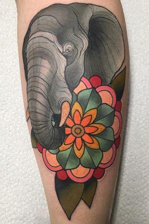 Elephant flower #johnstreet #johnsttattoo #johnstreettattoo #hamont #hamilton #hamiltontattooer #hamiltontattoo #burlont #burlington #burlingtontattoo #oakville #oakvilletattoo #toronto #thebesttattooartists #torontotattoo #neotrad #neotradeu #neotraditional #neotradsub #neotradworldwide #neotradtattoo #neotraditionaltattoo #tattoosnob #SOLIDINK #americanatattoos #rickjamestattoo #everink #brightandbold #boldwillhold