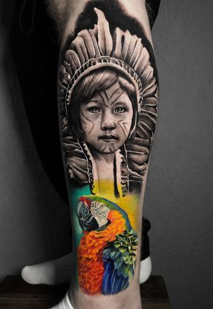 #nativeamerican #arara #animal #indio #brasil #tattoo #ink #blackandgreytattoo #blackandgrey #inkjecta #intenzetattooink #intenzeink #intenzepride #sullenclothing