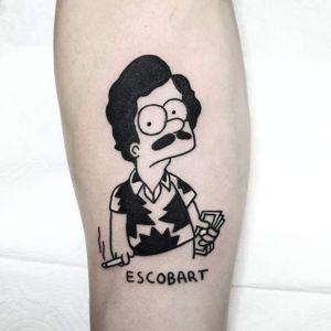 Escobart 🔥 More works on my instagram: @nikita.tattoo #tattooartist #tattooart #blackworktattoo #blackwork #lineworktattoo #LineworkTattoos #ignorantblackwork #ignorant #escobart #tattoo #tattoos #inked