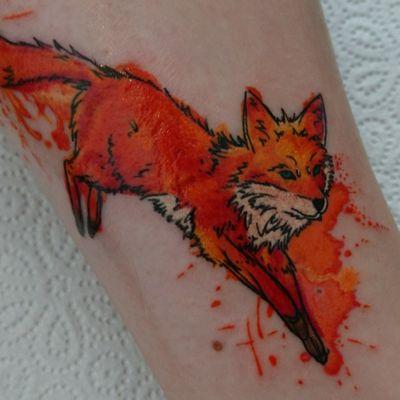 #fox #watercolor #aquarell #splatters #colortattoo #mystic #munich