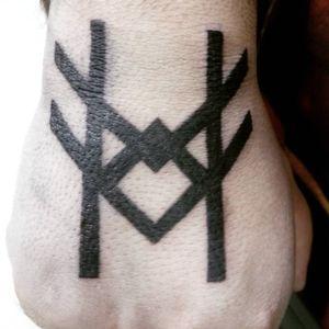 Cfg runic by me #carpetattoo #Runic #runestattoo #vikingtattoo #pagantattoo #Runes #blacktattoo #blackwork #icelandic