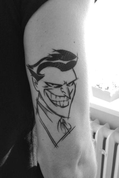 Joker from the animated series 😊 #jokertattoo #Joker #DCTattoos #batman