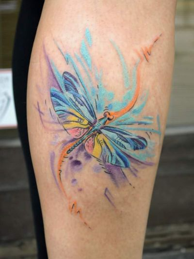 #dragonfly #colorful #spiritual #firstattoo