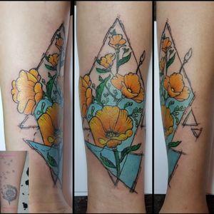 My work #tattoo #artist #tattooartist #art #Bishoprotary #eternalink #ilovetattoo #sonami #sonamiaoi #thankful #nice #flowers #tattooflower #colourtatto