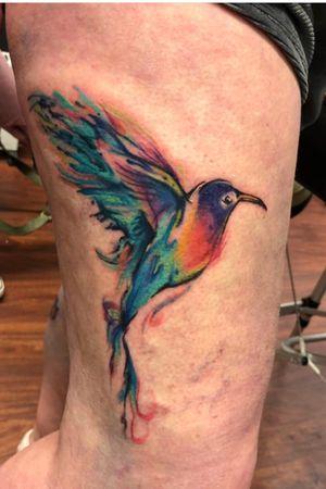 Watercolour hummingbird #watercolour #tattooartist #tattooart