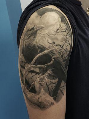 #blackandgrey #crow #nature #moon #chayennehawk #healed