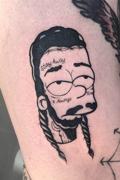 Bart Malone #kevinhennesseytattoo #postmalone #bartsimpson #simpsontattoo #simpsons
